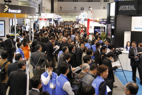 AUTOMOTIVE WORLD 2014 (a combined exhibition of 4 specialised shows for advanced automotive technologies) took place in Tokyo from January 15 to 17, expanding the scale by 20%. [432 exhibitors and 18,469 visitors] (Photo: Business Wire)