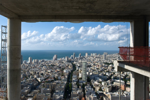 Breathtaking views from Meier on Rothschild (Amit Gosher photographer).