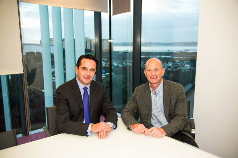 Left to right: Armin Kirchner, Group Managing Director, Corporate & Institutional Services and Morgan Jubb, CEO of First Names Group (Photo: Business Wire)