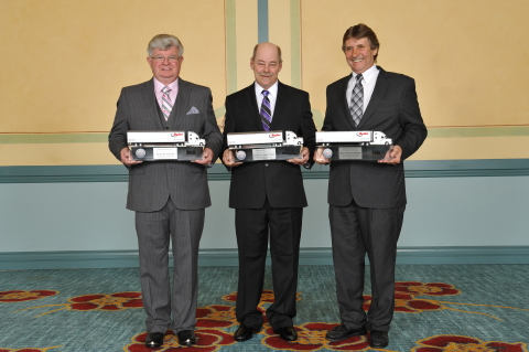 Driver of the Year winners, David Hopper, John Armstrong, and Melton Atkinson. (Photo: Business Wire)