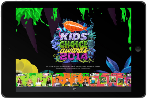 Nickelodeon Launches First-Ever Kids' Choice Awards Digital Book (Photo: Business Wire)