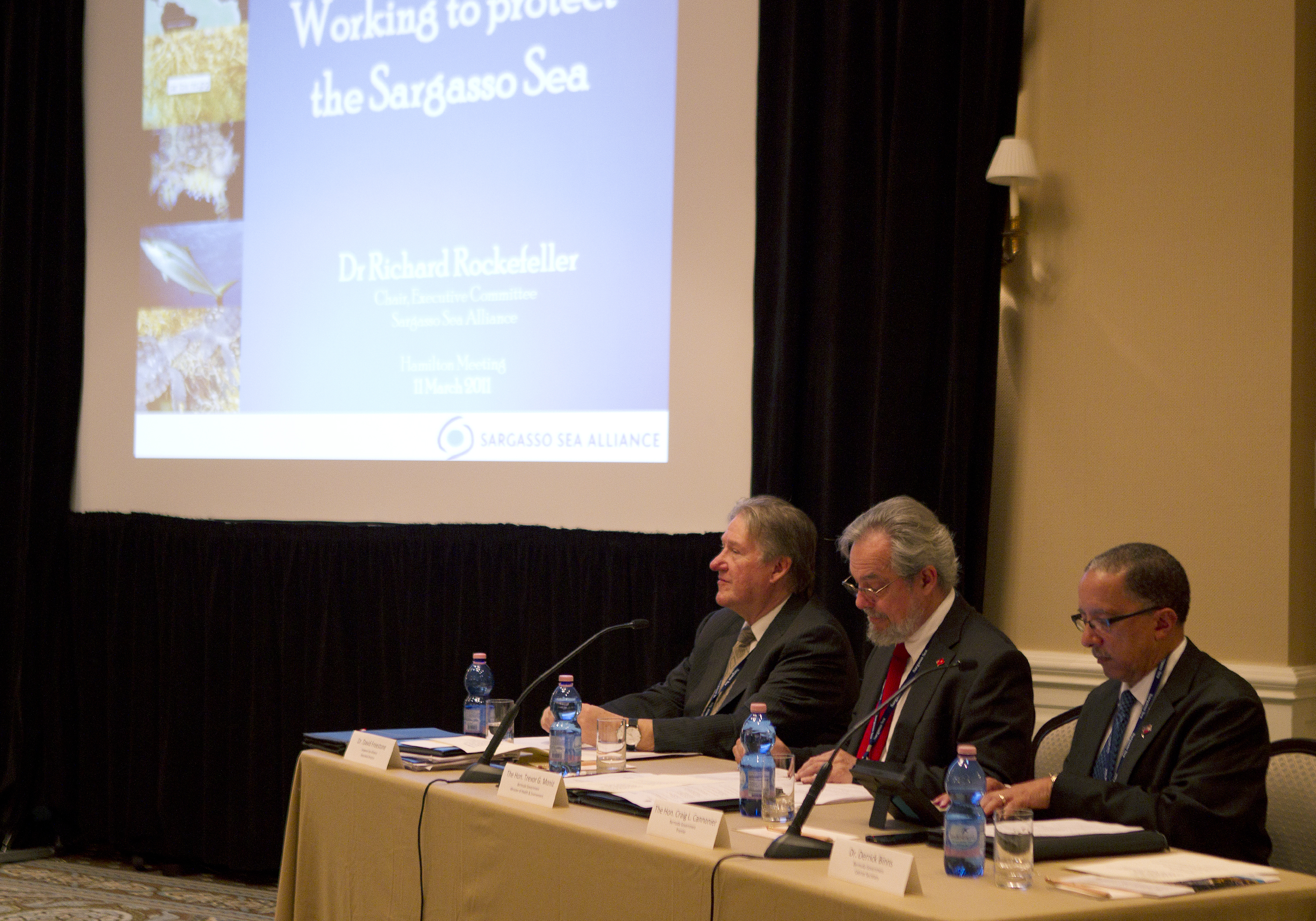 Governments come together in Bermuda on March 11, 2014 to adopt historic Hamilton Declaration to create stewardship for threatened Sargasso Sea. (Photo: Business Wire)