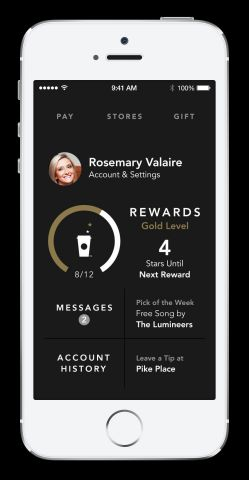 Starbucks enhancements to its mobile app for iPhone include a streamlined design and user experience ...
