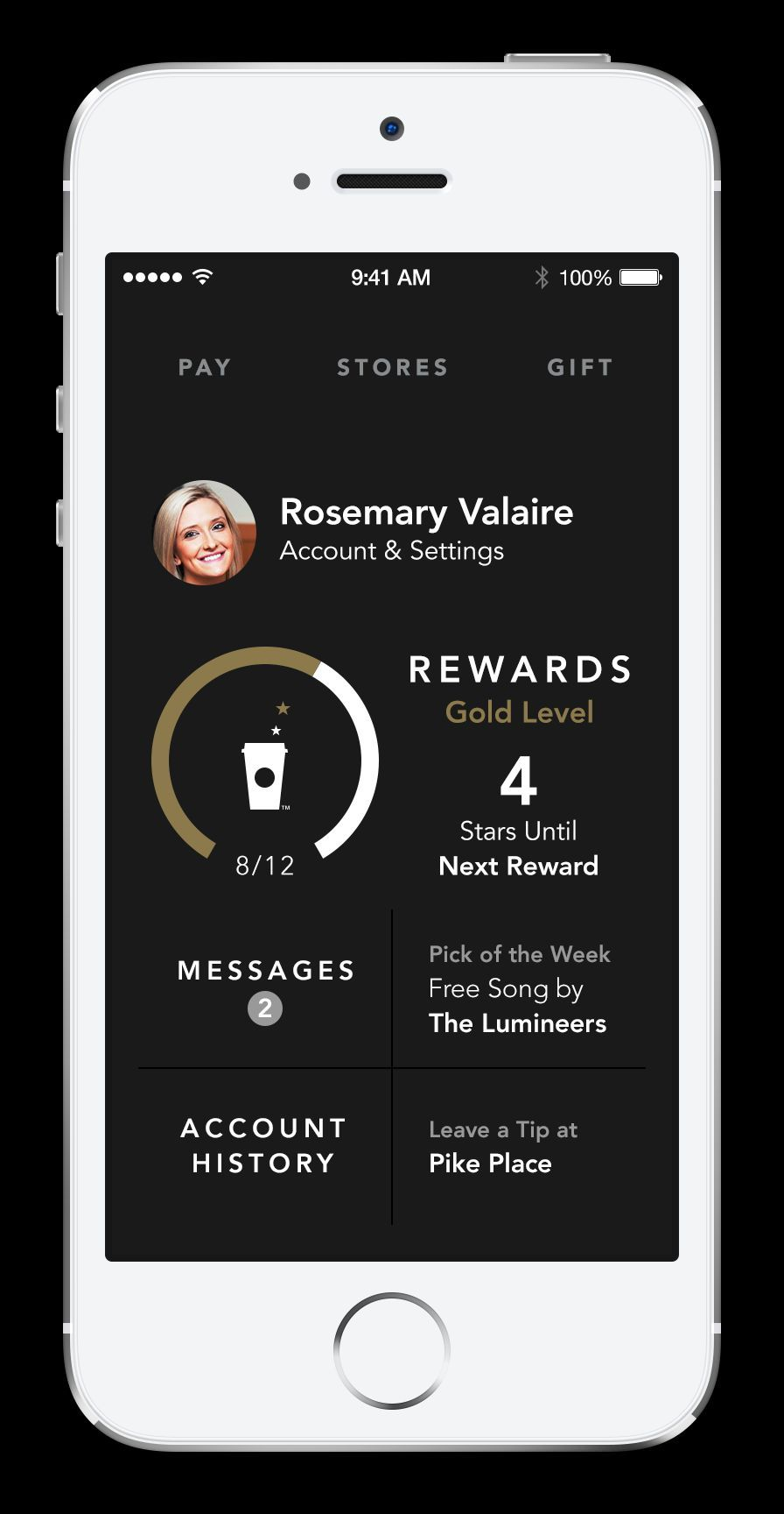 Starbucks enhancements to its mobile app for iPhone include a streamlined design and user experience. (Photo: Business Wire)