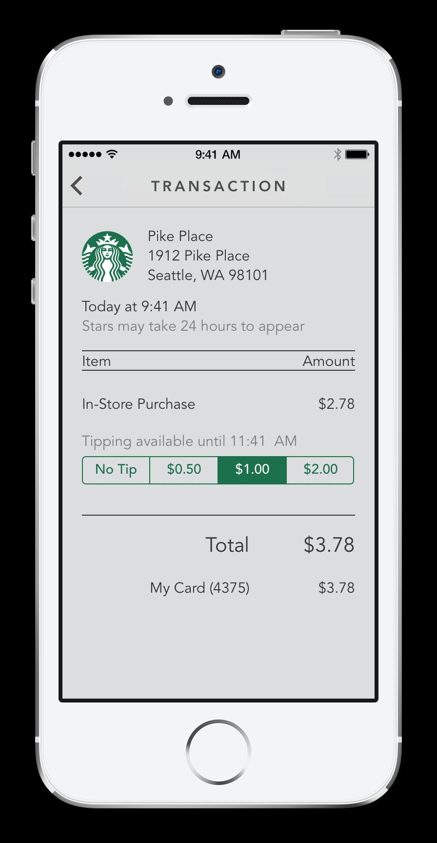 Customers using the Starbucks App for iPhone will have the option to leave a tip at company-operated Starbucks(R) stores in the U.S. (Photo: Business Wire)