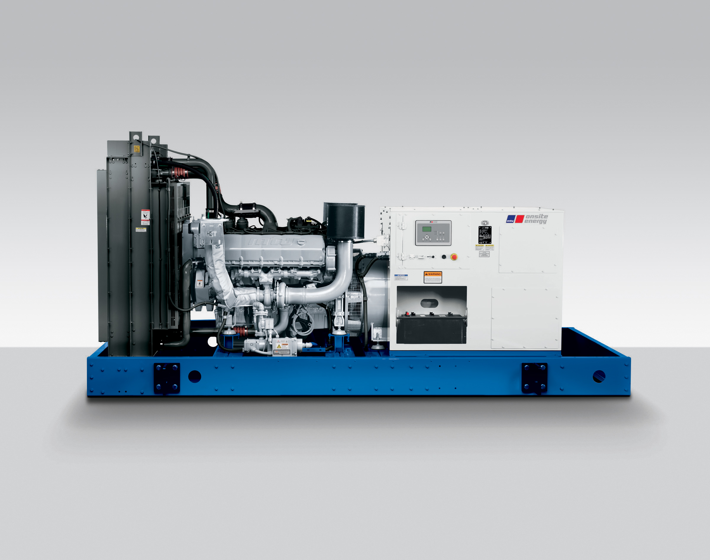 The MTU Onsite Energy 10V 1600 generator set is rated at 450 kWe for emergency backup power. (Photo: Business Wire)