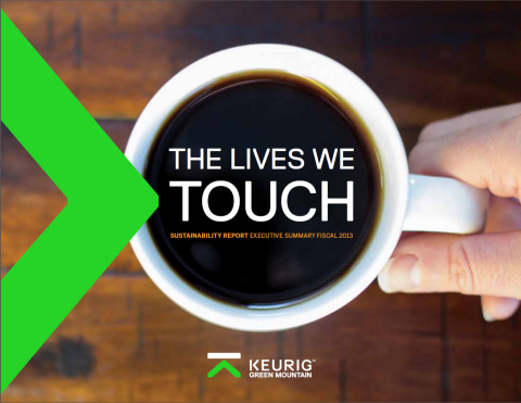 Keurig Green Mountain, Inc. launches 2013 Sustainability Report and 2020 targets  (Photo: Business Wire)