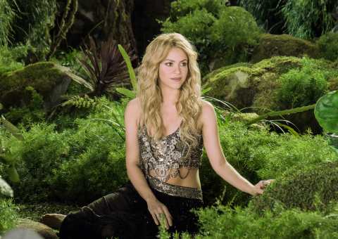 Shakira on the set of the Activia 'Dare to Feel Good' commercial (Photo: Business Wire)