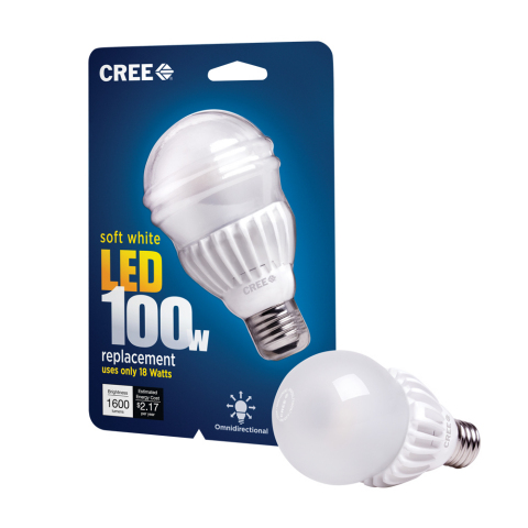 Cree's new 100-watt LED Bulb delivers no-compromise while being the lowest priced 100-watt LED repla ...