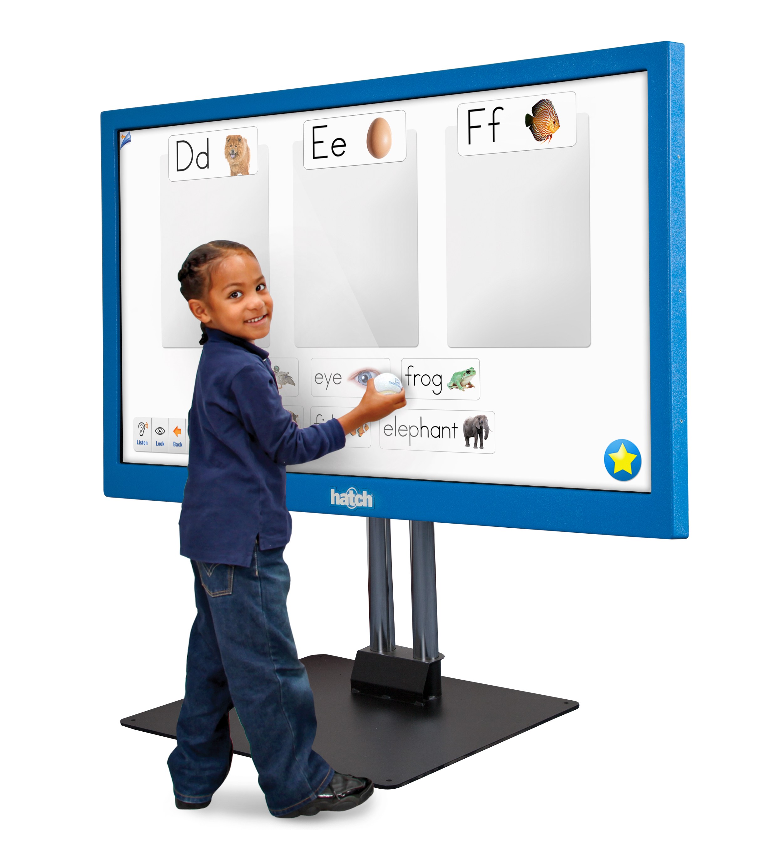 """The new, interactive Hatch Display is a 55"""" high definition touchscreen system, purpose-built for the early childhood classroom. (Photo: Business Wire)"""