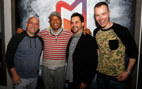 Steve Rifkind, Russell Simmons, Todd Pendleton and DJ Skee at launch of ADD52 at SXSW (Photo: Business Wire)