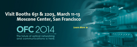 Visit MACOM at Booth 2203 for more information at the OFC 2014 show in San Francisco (Graphic: Business Wire)