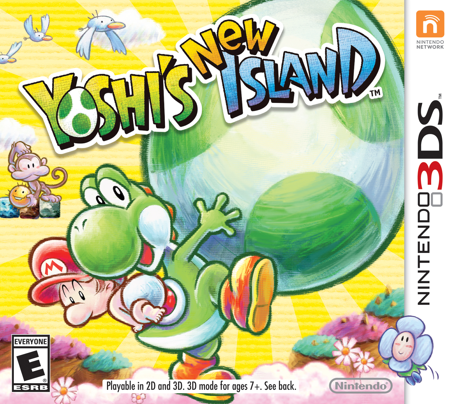 Yoshi's New Island launches on the portable Nintendo 3DS system on March 14. The game includes new features like massive Mega Eggdozers, inventive transformations with unique controls and a two-player multiplayer mode. (Photo: Business Wire)