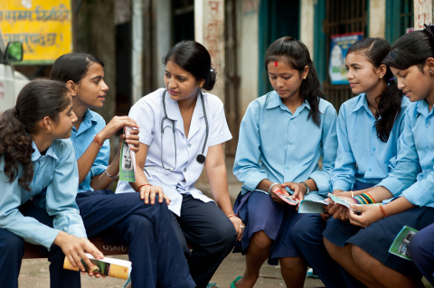 """Nepalese girls participating in """"Protecting Futures"""" Menstrual Hygiene Management project by Save the Children & Always © Susan Warner for Save the Children / Always"""