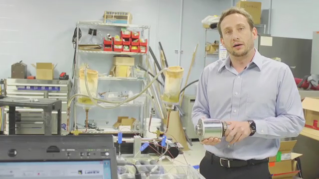 Michael Benedict, Lead Engineer for GE Appliances' magnetocaloric project, explains how the technology will be used to keep refrigerators cool in the near future.
