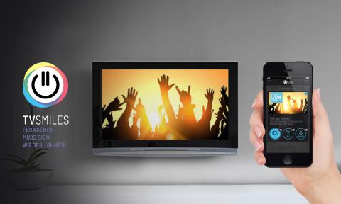 Durch die Technologie von mufin erkennt die TVSMILES-App Werbespots und bietet den Usern darauf abge ...
