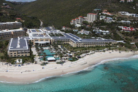 Westin St. Maarten Dawn Beach Resort & Spa completes solar project allowing it to produce its own energy for six to eight hours daily. (Photo: Business Wire)