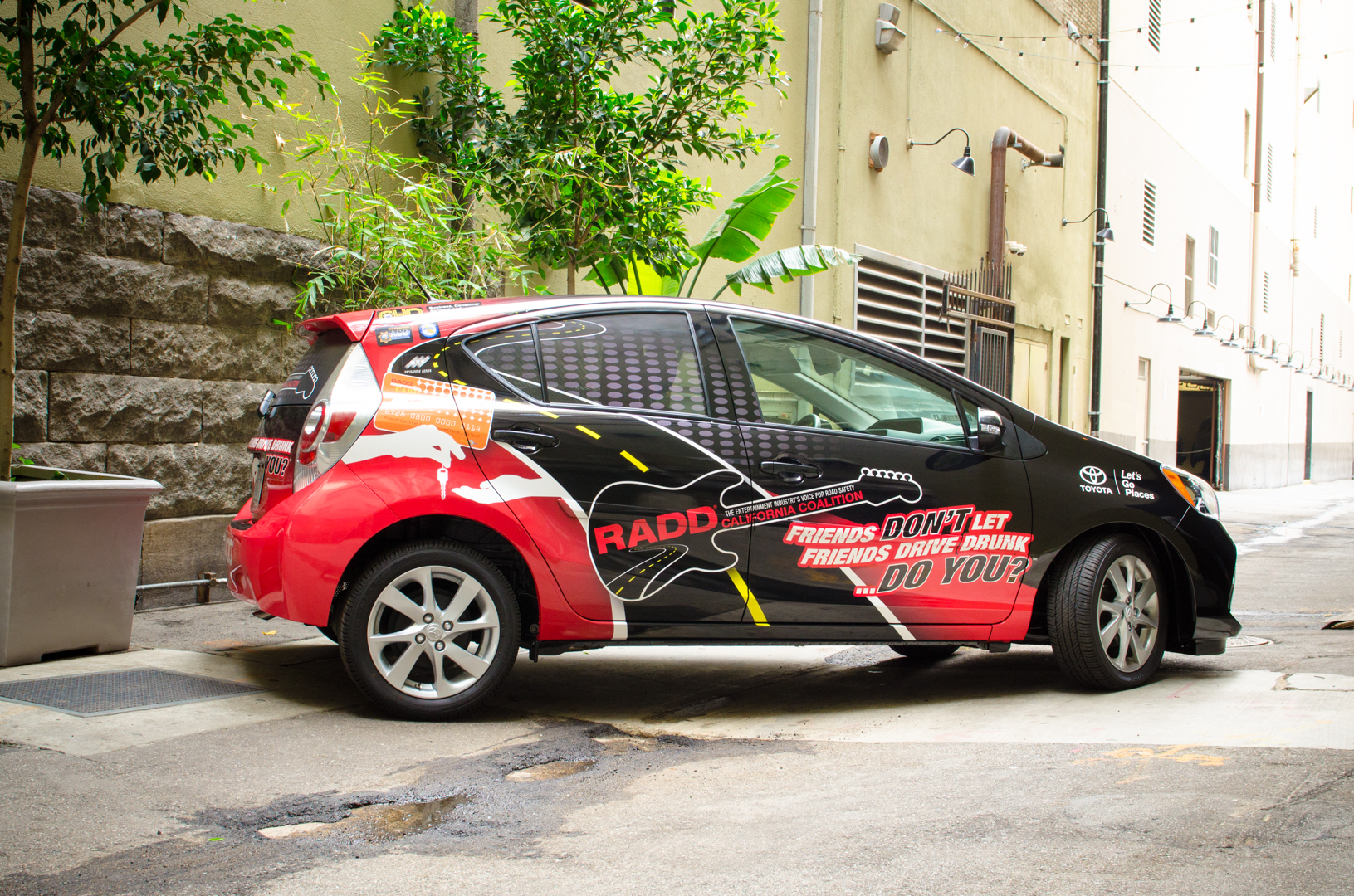The Toyota Prius C, RADD Car made an appearance at the event. (Photo: Business Wire)