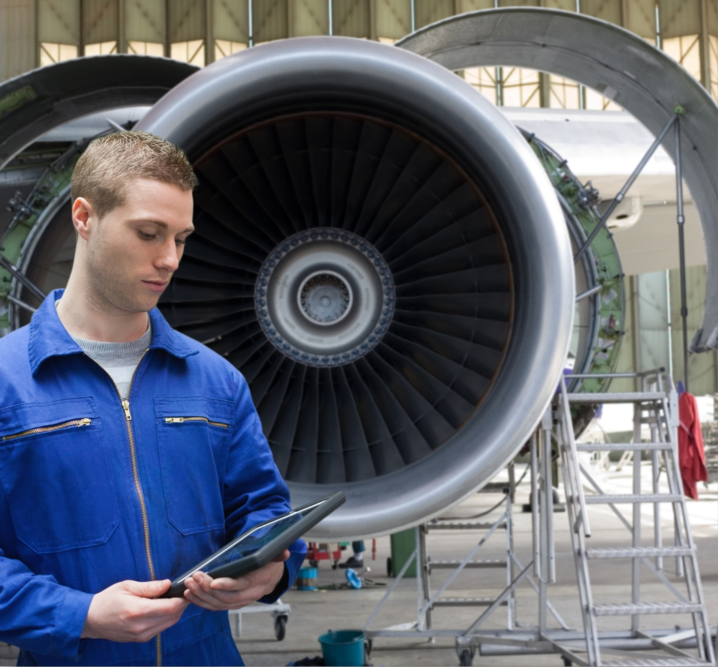 Originally adopted by pilots, tablet devices are making their way into other areas of civil aviation, such as maintenance operations. (Photo: Business Wire)