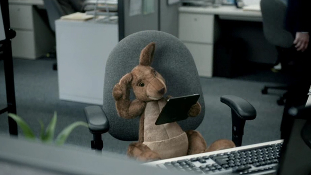 Commercial - In the workplace, Hopper the Kangaroo