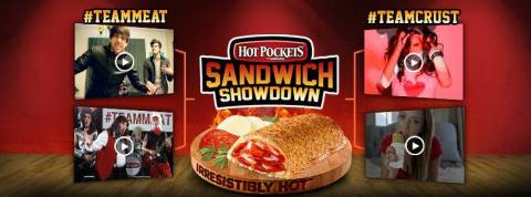 HOT POCKETS(R) BRAND SANDWICHES COURTS YOUTUBE STARS IN BRACKET-STYLE SANDWICH SHOWDOWN: SMOSH, The Warp Zone, Brittani Louise Taylor and Taryn Southern compete head-to-head in IRRESISTIBLY HOT(R) music video challenge voted on by fans at HotPockets.com/SandwichShowdown