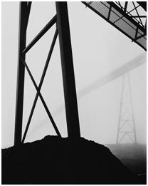 CSR Series, BBC Mine No. 2, Conveyor Towers, 1981 Silver gelatin print, 33 x 29 in. Courtesy Rosamund Felsen Gallery © Grant Mudford