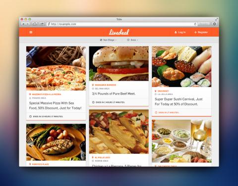 www.livedeal.com - mobile restaurant marketing platform. (Graphic: Business Wire)