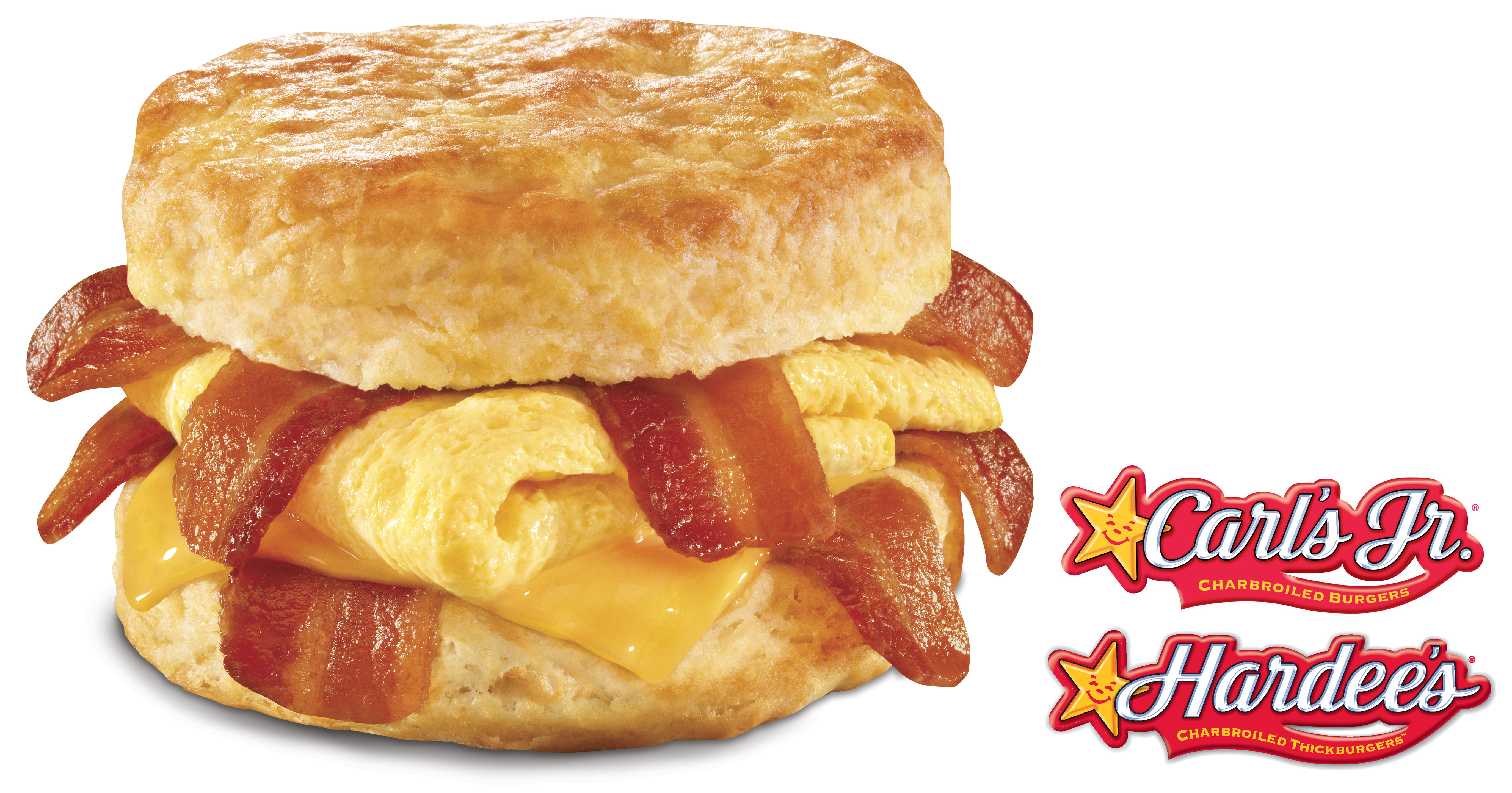 Fit for any superhuman appetite, the X-Tra Bacon, Egg & Cheese Biscuit from Carl's Jr. and Hardee's packs four strips of bacon (twice the normal amount), folded egg and American cheese served on a Made from Scratch Buttermilk Biscuit. (Photo: Business Wire)