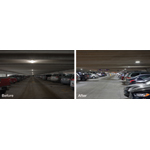 Upgrading to LED parking garage lights from Eaton's Cooper Lighting business will help save approximately $1.2 million annually at the Detroit Metropolitan Airport (DTW). (Photo: Business Wire)