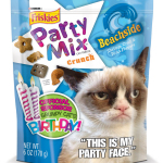 "Friskies® Party Mix™ celebrates the second birthday of its ""official spokescat"" by releasing limited edition packaging that features Grumpy Cat and issuing #1MMGrumpyFrowns Challenge. For more details, visit www.Friskies.com/PartyMix (Photo: Business Wire)"