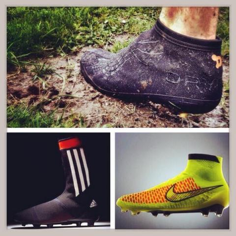 DRYFEET, adidas Prime Knit FS & Nike Magista. (Photo: Business Wire)