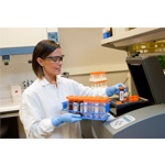 Tanya Quint loads an instrument at Exact Sciences' headquarters in Madison, Wis. (Photo: Business Wire)