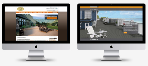 Latitudes Decking and Railing launches fully-redesigned website, latitudesdeck.com (Graphic: Business Wire)