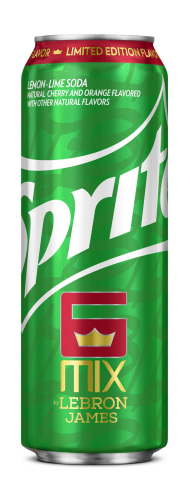 Limited-edition Sprite® 6 Mix by LeBron James 19.2-ounce can available in convenience retail and value stores. (Photo: Business Wire)