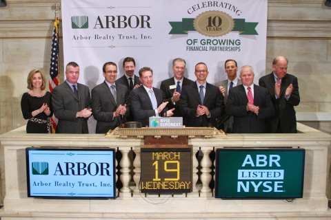 Arbor Realty Trust President and CEO Ivan Kaufman (center) and the company's executive management te ...