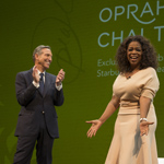 Howard Schultz, chairman, president and ceo of Starbucks, announces a first-of-its-kind collaboration with Oprah Winfrey to co-create Teavana Oprah Chai Tea, which will be available in Starbucks and Teavana stores just in time for Mother's Day. (Photo: Business Wire)