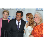 Host Board of the Norma Jean Gala 2014: Master of Ceremonies Busy Philipps with George Lopez, Debby Ryan, and Diane Ladd on the blue carpet to help kids in crisis at Hollygrove. (Photo: Business Wire)
