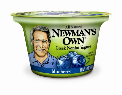 Newman's Own Greek Nonfat Blueberry Yogurt -- One Flavor in the Five-Variety Line  (Photo: Business Wire)