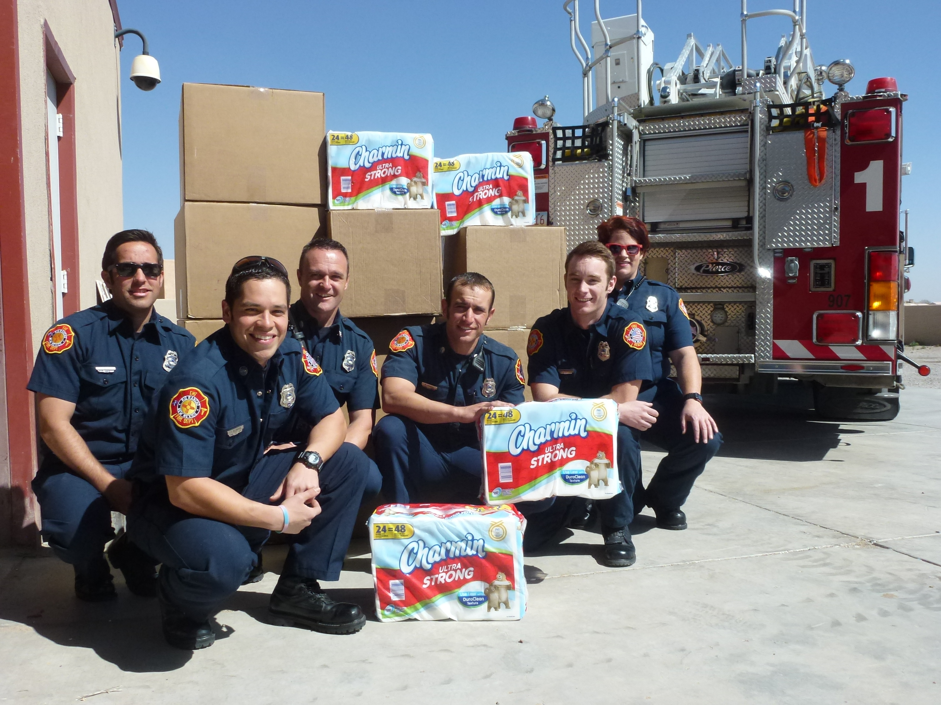 Photo Of Rio Rancho Fire Department Receiving A Donation