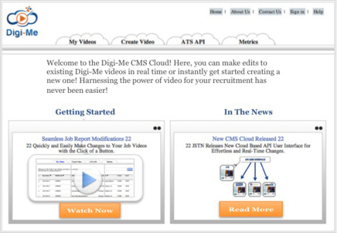 Digi-Me Cloud Based Video Platform (Graphic: Business Wire)