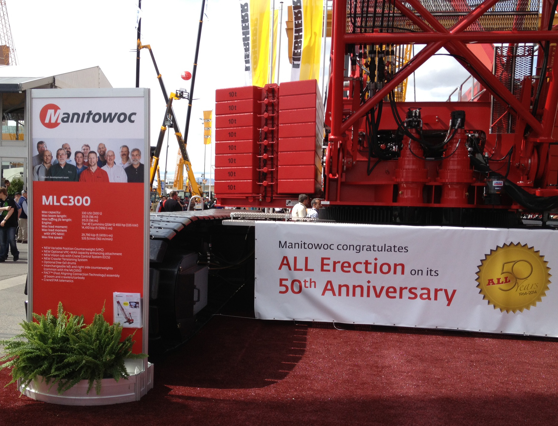 All Crane takes first order of MLC300 at CONEXPO-CON/AGG 2014 (Photo: Business Wire)