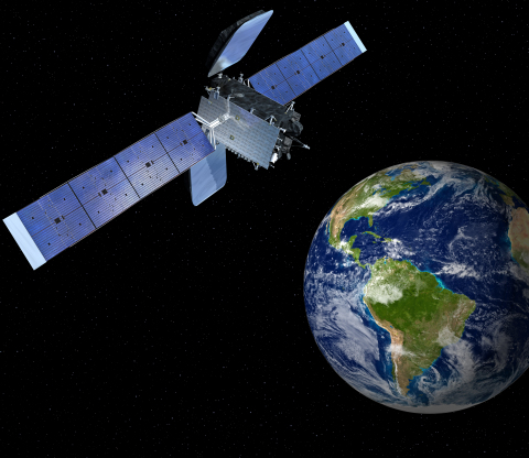 The Amazonas 4A satellite was built by Orbital Sciences Corporation (NYSE: ORB) for HISPASAT of Spain to provide Ku-band communications services to South America. The satellite is based on Orbital's flight-proven GEOStar spacecraft platform. (Photo: Business Wire)