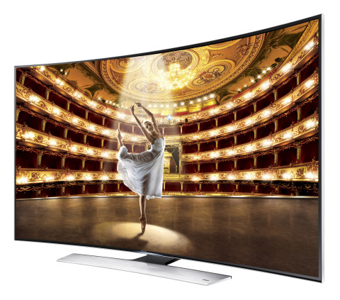 Samsung Electronics America today unveiled its U9000 Curved Ultra High Definition (UHD) TV at the So ...