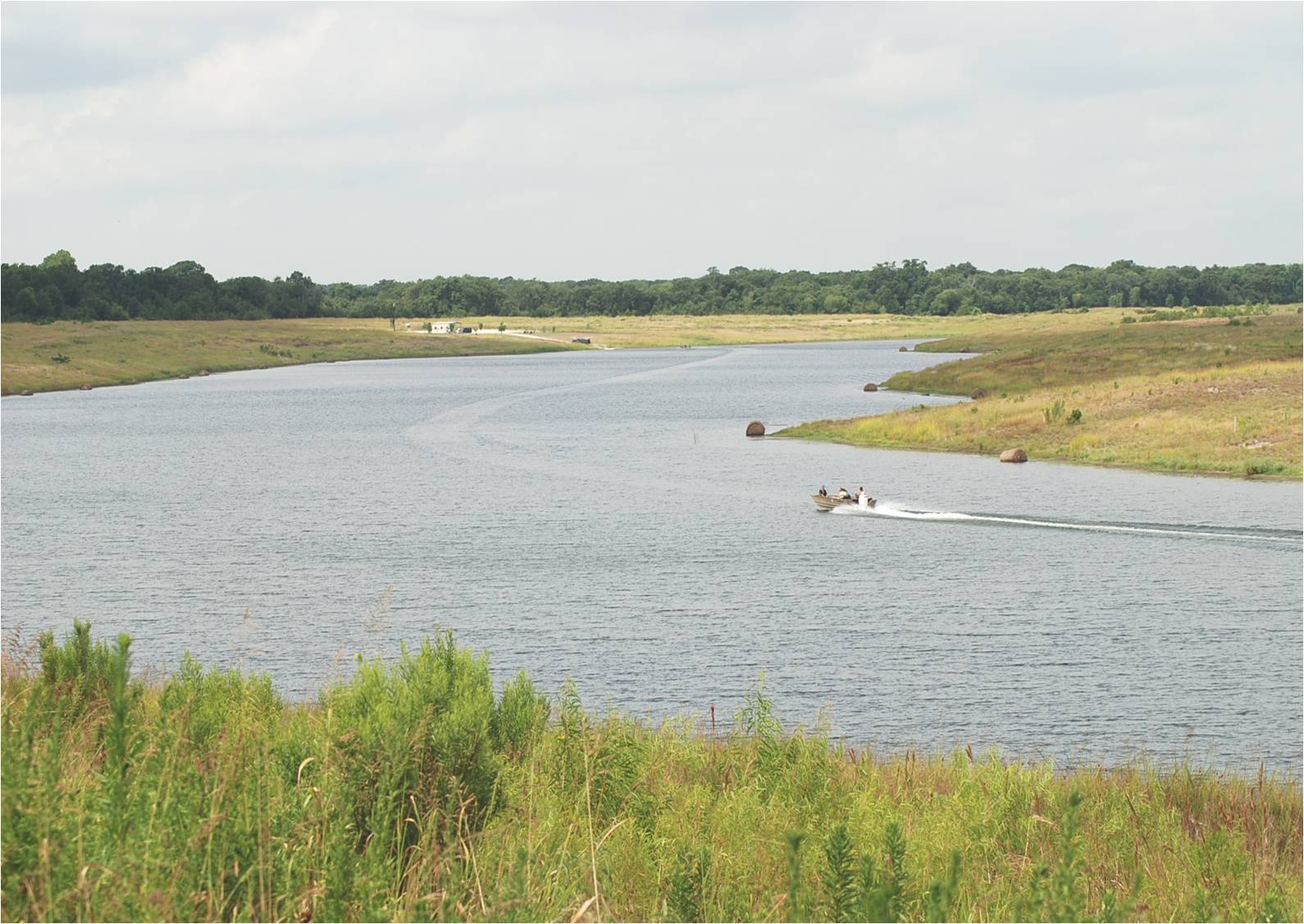 At approximately 112 surface-acres, the lake provides a rare opportunity for genetic research of largemouth bass through a partnership with Texas Parks and Wildlife Department. (Photo: Business Wire)