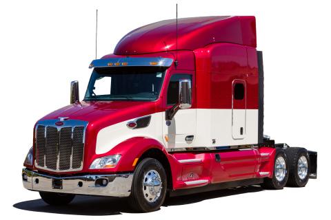 Peterbilt Truck Model 579 in Diamond Red (Photo: Business Wire)