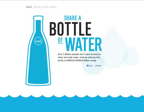 WHOLE WORLD Water launches the campaign Give the #WholeWorldWater in recognition of World Water Day, March 21. (Graphic: Business Wire)