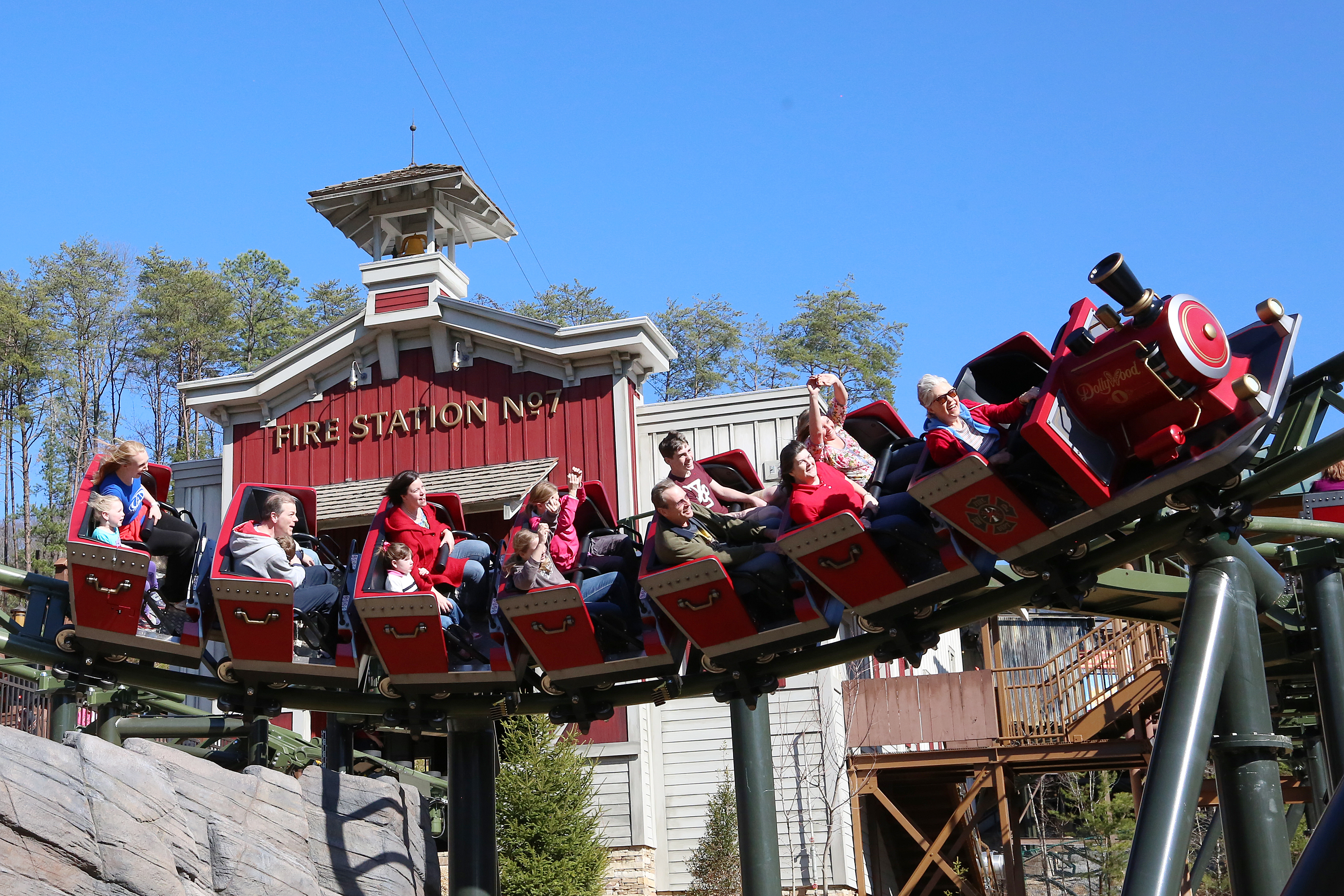 dollywood s firechaser express blasts off business wire