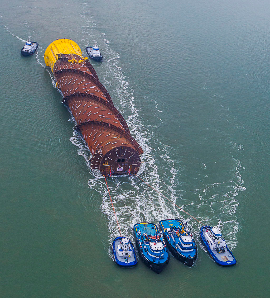 Williams Partners' made-in-America Gulfstar One is 21,500 tons of proof that American engineering and construction are alive and well. The hull of the floating production system was towed out and positioned in the deepwater Gulf of Mexico before the topside platform was installed in March 2014. (Photo: Business Wire)