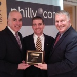 Senior Morgan Properties Executives Patrick O'Grady, Rob Geddes and Ian Douglas accept the Philly.com Top Workplaces Award 2014 (Photo: Business Wire)