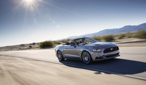 On April 16-17, Ford is celebrating 50 years of continuous pony car production by bringing the all-new Mustang convertible to the Empire State Building's 86th floor observatory, allowing visitors to join in the festivities. (Photo: Business Wire)